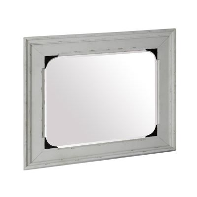 Bellevue Manor Weathered Shutter White Landscape Mirror