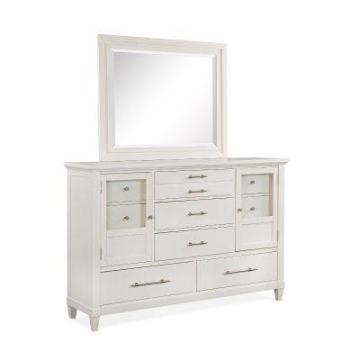 Lola Bay Seagull White Landscape Dresser Mirror
