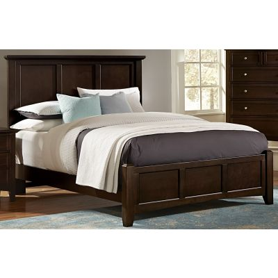 Vaughan Bassett Bonanza Twin Mansion Bed in Merlot
