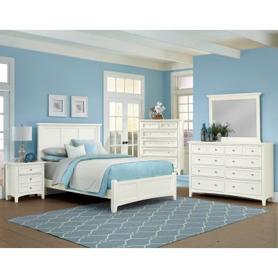 Vaughan Bassett Bonanza Twin Mansion Bed in White