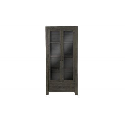 Abington Weathered Charcoal China Cabinet