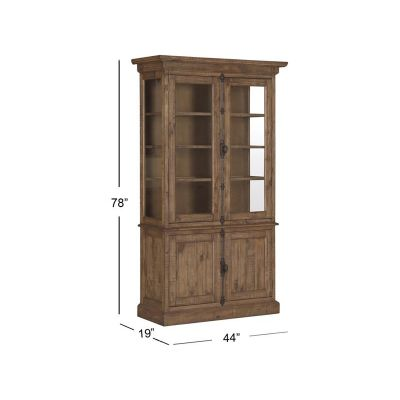 Willoughby Weathered Barley China Cabinet