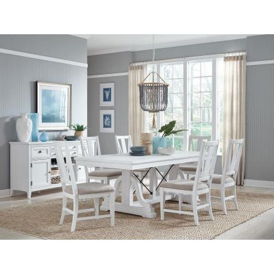 Heron Cove Chalk White Extendable Dining Room Set