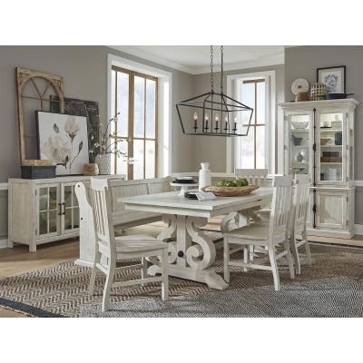 Bronwyn Antique White Extendable Dining Room Set