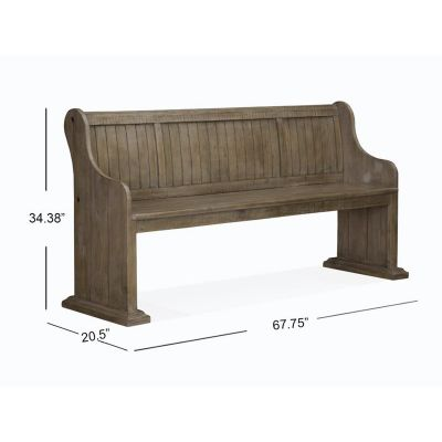 Tinley Park Dove Tail Grey Bench with Back