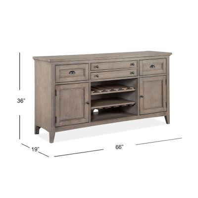 Paxton Place Dovetail Grey Buffet/Server