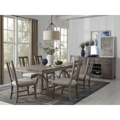 Paxton Place Dovetail Grey Extendable Dining Room Set