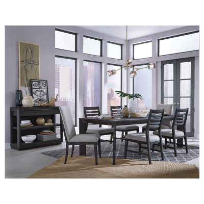 Wentworth Village Sandblasted Oxford Black Dining Room Set