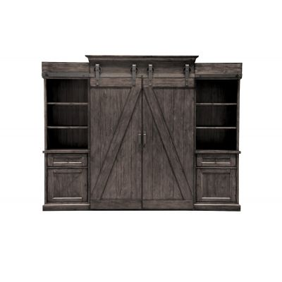 Garrett Distressed Charcoal Entertainment Wall unit Ridgewood