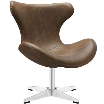 Alma Lounge Chair in Brown