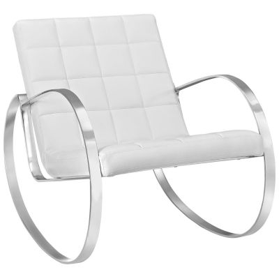 Vitas Upholstered Vinyl Lounge Chair in Black