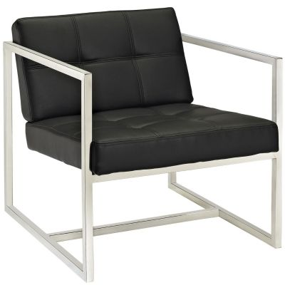 Tera Upholstered Vinyl Lounge Chair