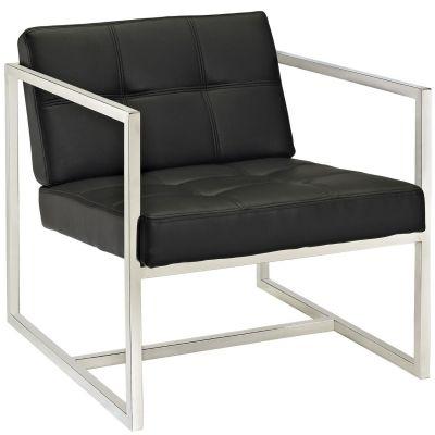 Tera Upholstered Vinyl Lounge Chair