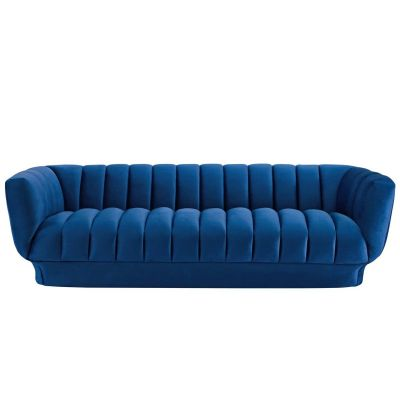 Tamara Vertical Channel Tufted Performance Velvet Sofa