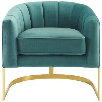 Musko Vertical Channel Performance Velvet Accent Armchair