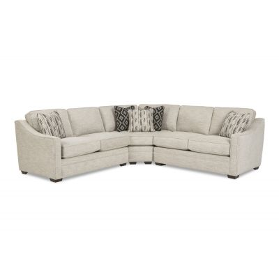 Feminen 3 Pcs Sectional in Premium quality Custom fabric