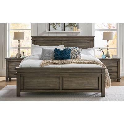 Glacier Point Greystone Queen Panel Bed