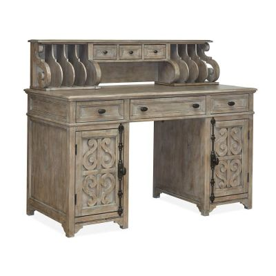 Tinley Park Dovetail Grey Counter Height Desk