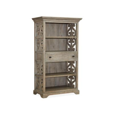 Tinley Park Dovetail Grey Bookcase