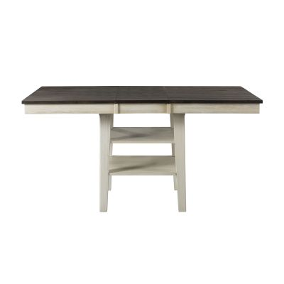 Huron Chalk & Cocoa Bean 56'' Extendable Rectangular Counter height Dining  KitchenTable