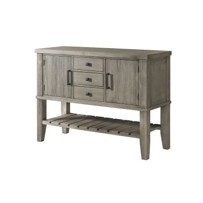Huron Distressed Gray Dining Room Server