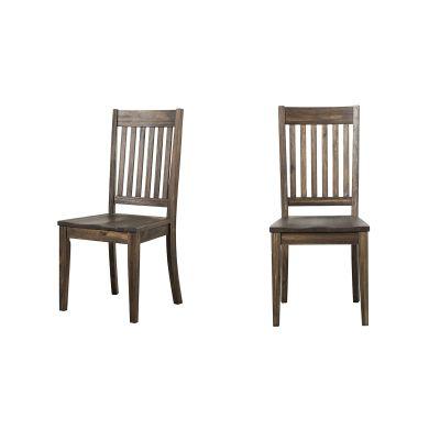 Huron Brown Slatback Dining Side Chair Set of 2
