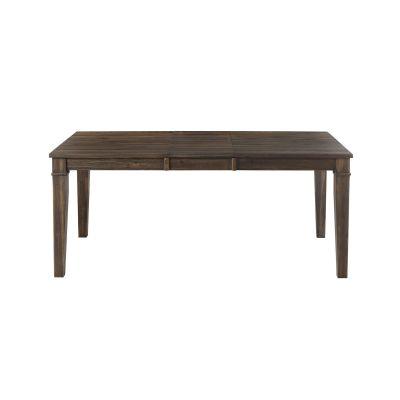 Huron Brown 56'' Extendable Rectangular Dining Table