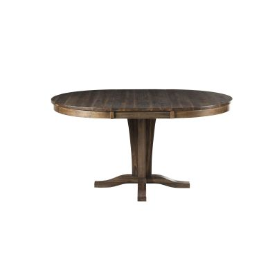Huron Brown 42''  Extendable Round Pedestal Dining Table
