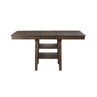 Huron Brown 56'' Extendable Rectangular Counter height Dining  KitchenTable