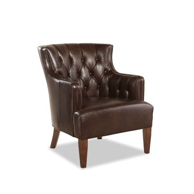 Butler Walnut Leather Chair