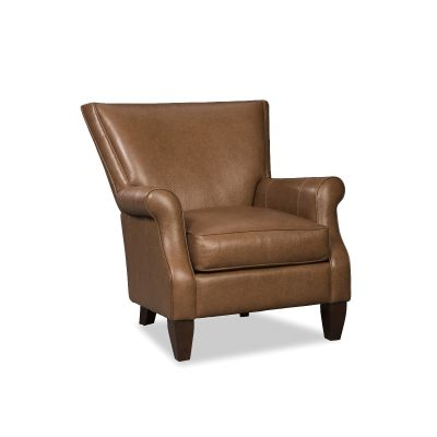 Acron Brown Leather  Chair