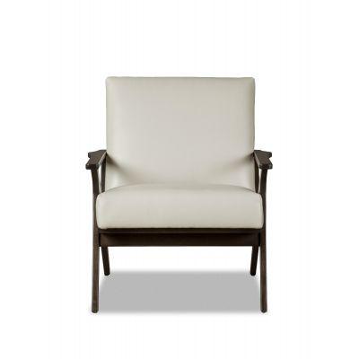 Arona White Leather Chair