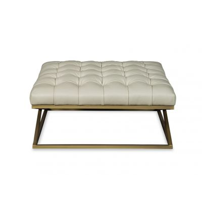 Jazz Cream Leather  Ottoman