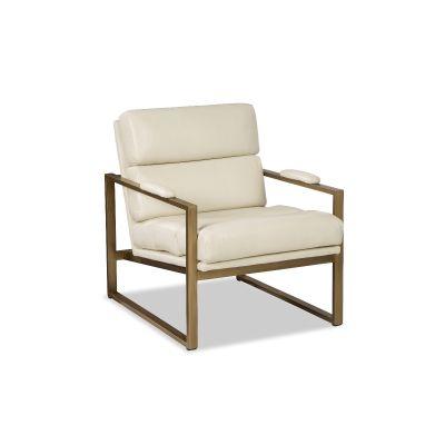 Ceran White Leather Chair