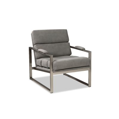 Canther Grey Leather Chair