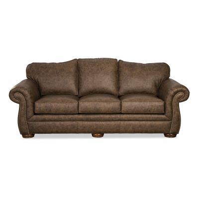 Sejo Brown Leather Sofa