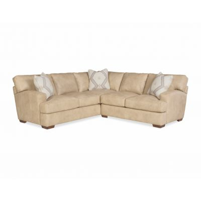 Nixon Beige Leather Sectional