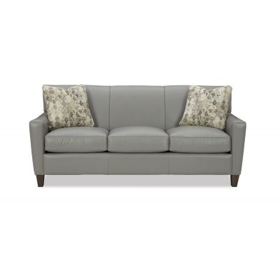 Chelsey Grey Leather Sofa Couch
