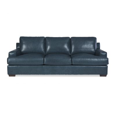 Arlo Blue Leather Sofa Couch