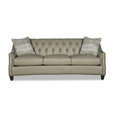 Bradford Silver Leather Sofa Couch