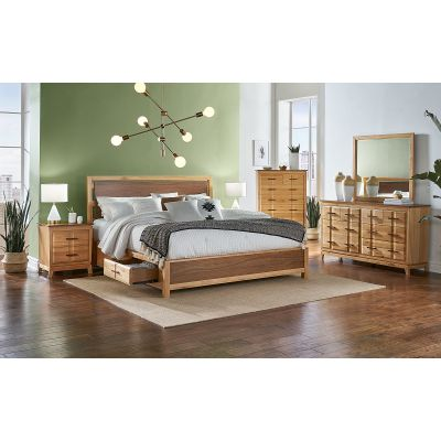 Modway Natural Queen Panel Storage Bed