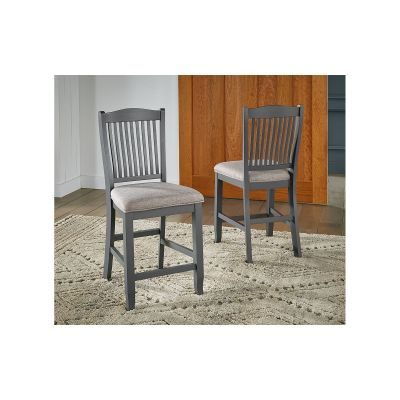 Port Townsend Slatback Upholstered Stool Set of 2