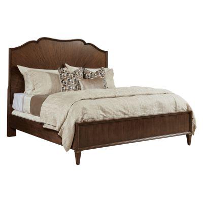 American Drew Vantage Walnut Veneers Carlisle Panel Queen Bed