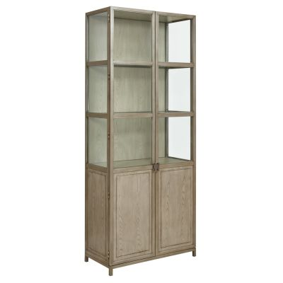 American Drew West Fork Light Brown Blackwell Display Cabinet