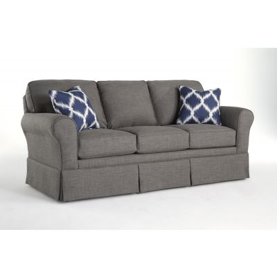 Annabel Living Room Sofa with Rolled Arms with Skirt Carlstadt