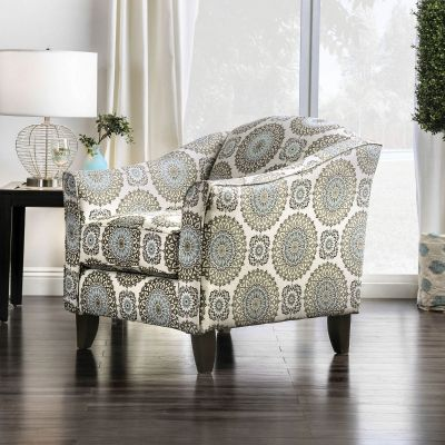 Misty Floral Accent Chair Fair Lawn