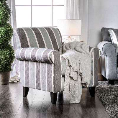 Misty Stripe Accent Chair Bergenfield