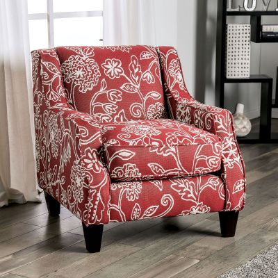 Ames Floral Accent Chair Montvale