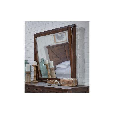 Sun Valley Rustic Timber Dresser Mirror
