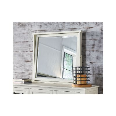 Sun Valley Distressed White Dresser Mirror